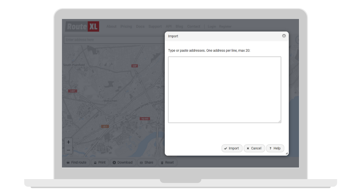 Route xl route planner screenshot